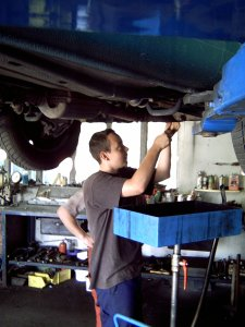 SBP in der Autowerkstatt